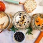 overnight oats 3 ways gluten free vegan // livingbeyondallergies.com